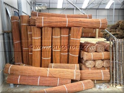 Venta mimbre nacional para vallas perimetrales cubiertas - Muebles de bambu y mimbre ...